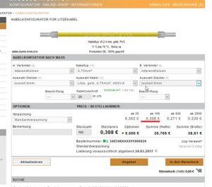 Kabelkonfigurator für Litzenkabel